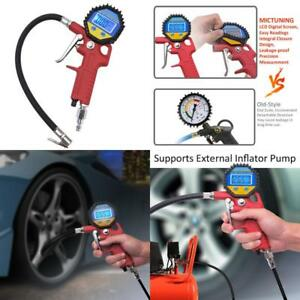 Portable Tire Inflator Digital Tire Pressure Gauge With Lock on Air Chuck 150psi