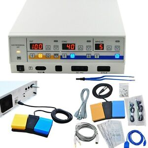 Electrosurgical Unit Diathermy Machine Smooth Surgery Electrocautery All Set New