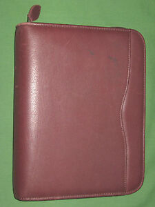 Desk 1 0 Red Leather Day Timer Planner Binder Franklin Covey Classic 9178