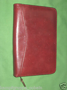 Classic Brown Leather Scully Planner Note Pad Spiral Binder Franklin Covey 324