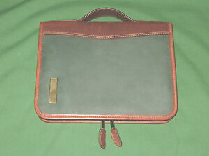 Desk 1 0 Green Brown Leather Day Timer Planner Binder Classic Franklin Covey