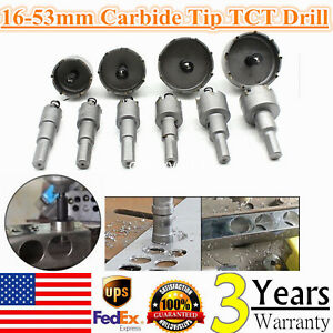 10pc Cutter Drill Bit Set Carbide Tip Tct Hole Saw For Steel Metal Alloy 16 53mm