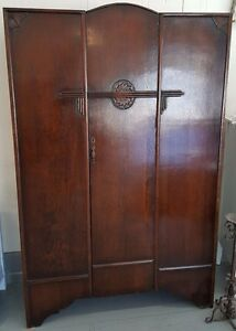 Vintage Armoire Wardrobe Made In Great Britain