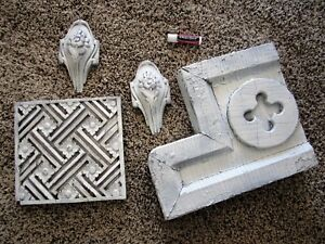 Shabby Architectural Porch Corbel Bracket Primitive Chic Victorian Wood Carvings
