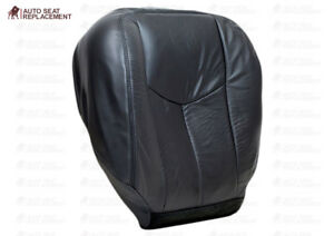 03 To 2007 Chevy Silverado Avalanche Bottom Or Back Leather Seat Cover Dark Gray