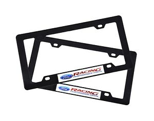 2x Ford Racing Abs Plastic License Plate Frame For Ford F150 F250 Explorer Edge