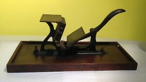 Antique Harvard No 2 Cast Iron Hand Operated Table Top Printing Press 1890 s