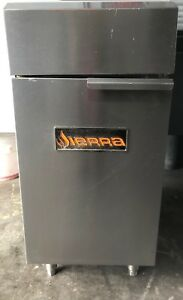 Sierra Commercial 35 40 Lb Tube Fired Gas Fryer With Splash Guard srf 35 40ng
