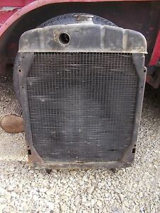 Farmall H Hv Tractor Ihc Engine Motor Working Radiator Assembly