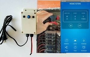 Electric Kwh Smart Meter Smart Home Up To 3 Phase Web Via Wifi External Cts