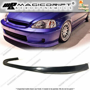 For 99 00 Honda Civic Ek Jdm Sir Style Front Bumper Lower Chin Lip Spoiler Pu
