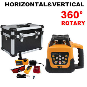 500m Automatic Self leveling Red Beam Rotary Laser Level Kit W Remote Control