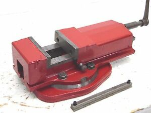 Vintage 5 Milling Machine Drill Press Swivel Vise Very Smooth Restored Clean