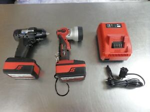 Snap on Ct8810abk Impact Drill W Charger Flashlight