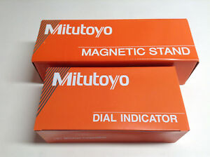 Mitutoyo 7046 Magnetic Stand 7010 Sn With Dial Indicator 2416s