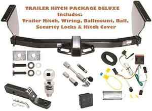 99 04 Jeep Grand Cherokee Tow Hitch Pkg Deluxe W Wiring Hitch Locks