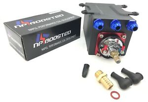 Npboosted 300lph Universal Fuel Pump Surge Tank W An8 Fittings For 044 650hp
