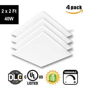 4 10pc 2x2 2x4 Led Panel Light 40 50w Dropped Ceiling Troffer Fixture Recessed