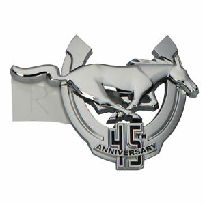 Oem New Front Right Fender Emblem Badge 45th Anniversary Ford Mustang 9r3z16098a