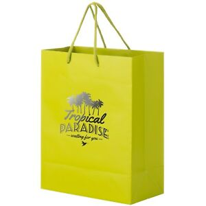 100 Custom Matte Laminated Euro Tote Bag Printed W Logo Message 8 X 4 X 10