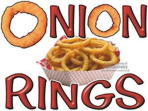 Onion Rings Vinyl Decal choose Size Concession Stand Boardwalk