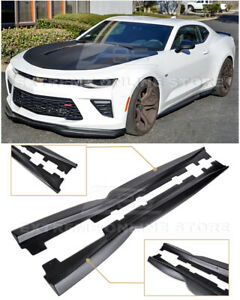 Eos T6 Style Primer Black Side Skirts Panel Extension For 16 Up Camaro Ss Rs