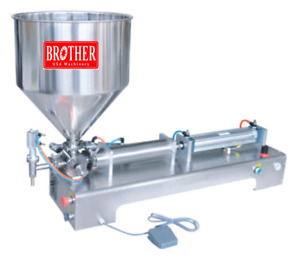 Filler Pneumatic Filling Machine For Paste Products 110v New