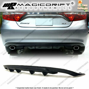 For 15 16 17 Toyota Camry Mdp Style 4 Fin Rear Bumper Lower Diffuser Replacement