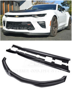 Eos T6 Front Bumper Lip Carbon Side End Caps Side Skirts For 16 18 Camaro Ss