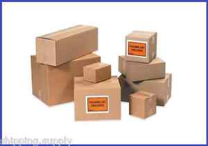 25 Pack Corrugated Cardboard Shipping Boxes medium 7 8 46 Sizes Available