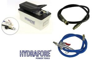 Air Hydraulic Foot Pump With Hose And Coupler 10000 Psi B 70pq