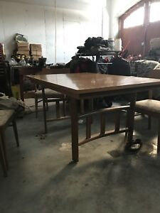 Stanley Art Deco Mission Style Dinning Room Table And Chairs