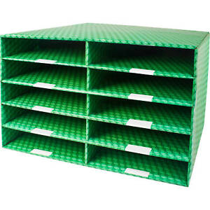 Corrugated Construction Paper Sorter With 10 Or 15 Slots
