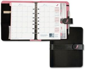 Day timer Desk Size Pink Ribbon Binder Starter Set