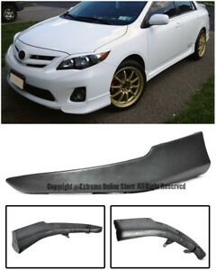 For 09 10 Toyota Corolla S Style Front Bumper Driver Left Side Lip Wing Splitter