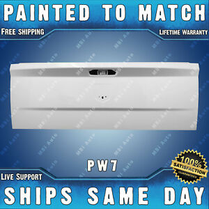 New Painted Pw7 White Tailgate Shell For 2010 2018 Ram Truck 1500 2500 3500
