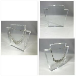 Fixturedisplays Clear Acrylic Plexiglass Necklace Jewelry Stand Display 11620 15