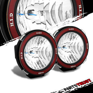 2 X 4 Mount On 35w 6000k Hid 4x4 Off Road Offroad Fog Lights Rally Driving Lamp