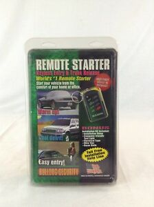 Nip Bulldog Security Model Rs102 Remote Car Starter With Installation Kit