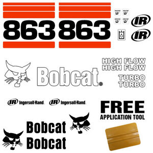 Bobcat 863 Skid Steer Set Vinyl Decal Sticker Set Bob Cat 20 Pc Set Made In Usa