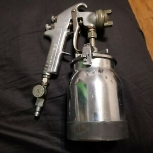 Devilbiss Paint Spray Gun Type Jga 502 W 306 Tip And Canister Usa