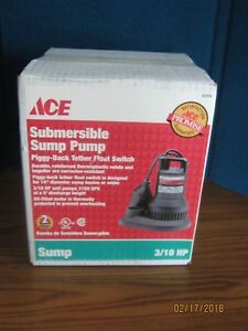Ace 47316 Submersible Sump Pump 3 10 Hp 2100 Gph Free Shipping
