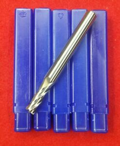1 4 Lot Of 5 With 5 16 Shank High Performance End Mill 4 Flute Carbide Endmill
