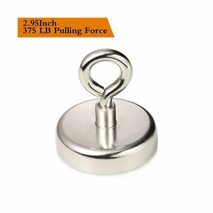 Wukong 375 Lbs Pulling Force Super Powerful Round Neodymium Magnet With Count
