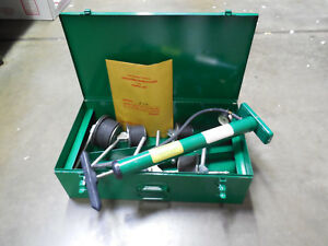 New Greenlee 858 Pvc Plug Set With Pump