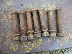7 Farmall H Hv M Mv Sm Sh 300 350 Tractor Ih Sqaure Headed Wheel Weight Bolts