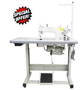 Yamata Fy8700 Industrial Sewing Machine Servo Motor juki Table Fully Assembled
