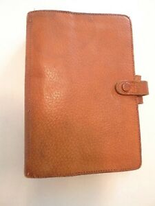 Filofax Vintage personal Size made England For Ann Taylor pigskin well Used