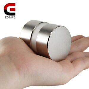 2pcs Super Powerful Dia 40mm X 20mm Neodymium Magnet 40x20 Disc Magnet Rare Eart