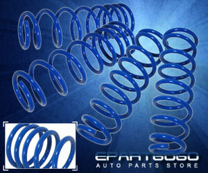 05 14 Ford Mustang V6 V8 Gt Suspension Lowering Drop Spring Kit Front Rear Blue